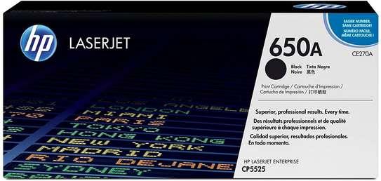HP 650A Black Original LaserJet Toner Cartridge (CE270A) image 1
