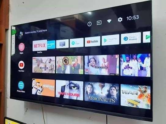 Syinix 65 inch smart Android frameless TV image 1
