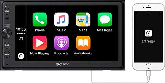 "Sony XAV-AX100 - 6.4"" Touch Screen display, Bluetooth, Apple Car Play Android Auto Car Stereo Radio Tuner Player image 1"