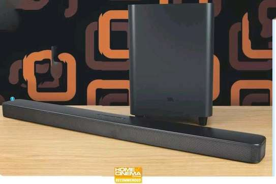 JBL Bar 5.1 Surround 550W Virtual 5.1-Channel Powered Sound Bar With Apple® AirPlay® 2, Chromecast Built-In, Bluetooth®, And Wireless Subwoofer image 1