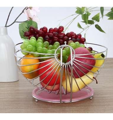 Stailess steel swing type fruit basket image 1