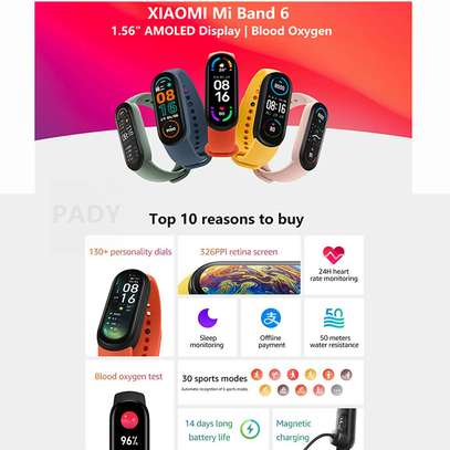 Xiaomi Mi Band 6 1.56 Inch Full Touch Screen Smart Watch - Black image 3