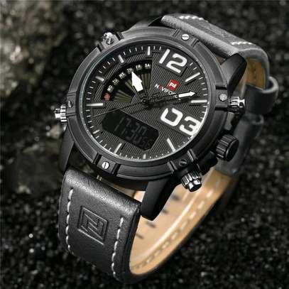 Naviforce water resistant digital analog watch image 3