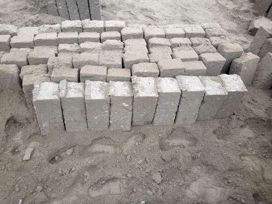 Machine cut construction stones