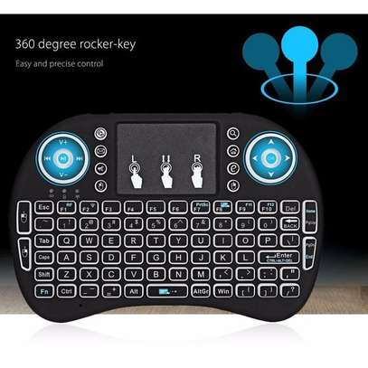 Wireless Mini Keyboard with Mouse Touchpad and Back-light for Android Box/ Smart TV/ Laptop - Black image 5