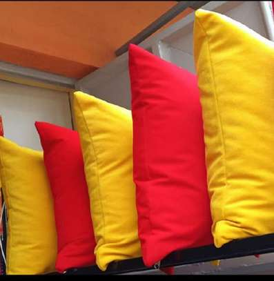 throw pillows red and yellow shade image 1