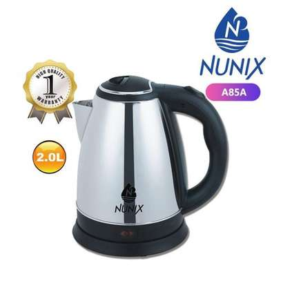 Nunix Stainless Steel 2.0L Cordless Kettle - Silver image 1