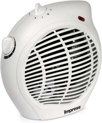 Impress Compact Fan Heater with Adjustable Thermostat, White image 1