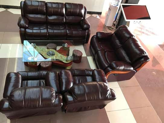 Leather Recliner Sofa Set 7 seater