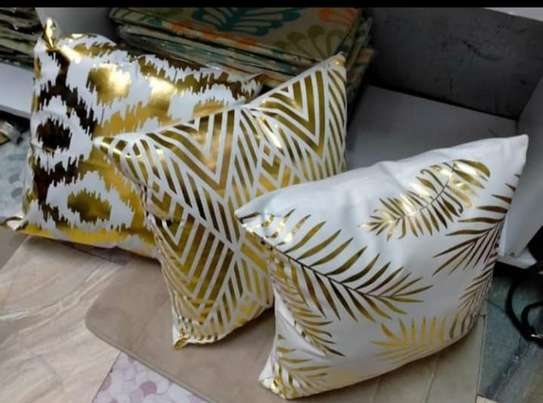 Gold Coated Throw Pillows image 7