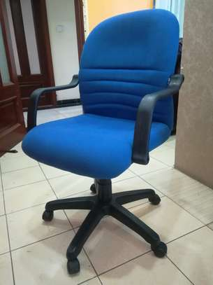 Blue Athena Mid back chairs image 2