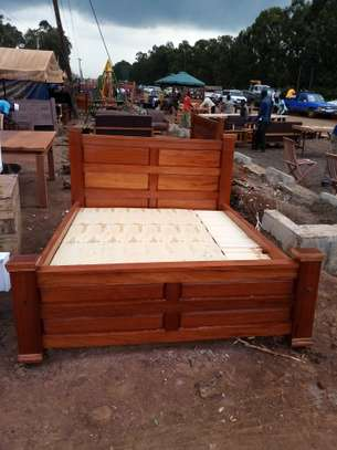 Wooden Bed. image 1