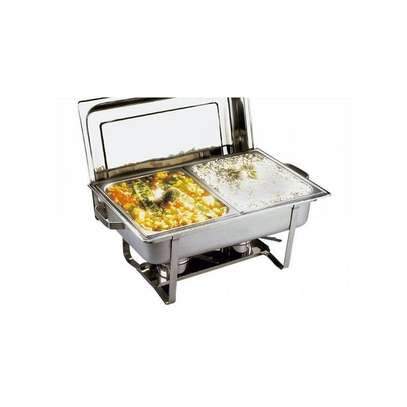 Signature signature double partitioned chafing dish image 2