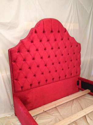 Modern 5*6 tufted beds for sale in Nairobi Kenya/red queen size beds for sale in Nairobi Kenya image 2