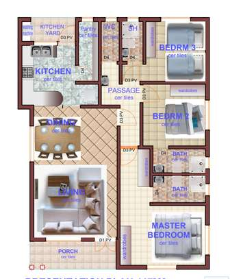 3 Bedroom  Master En-suite Bungalows Rockvilla 3 estate - Joska image 9