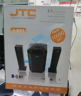 JTC J801 Plus 2.1 Channel Multimedia Speaker- Black image 1