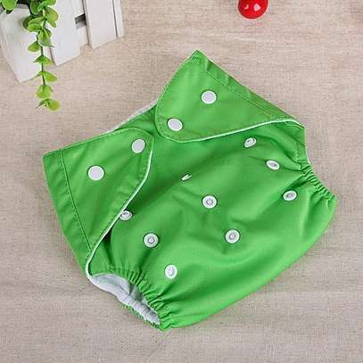 3 piece Washable Reusable Adjustable Baby Diaper with 3 Insert image 5