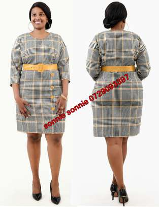 Yellow Checked Turkey dress image 1