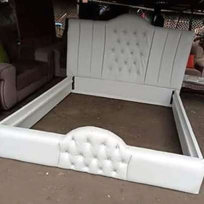 Fabric /Leather tufted beds. image 2