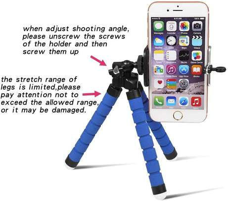 Phone Tripod, Compatible with iPhone, Android, Camera, and gopro, Small and Lightweight Mini Tripod with Flexible Legs (red ) image 8