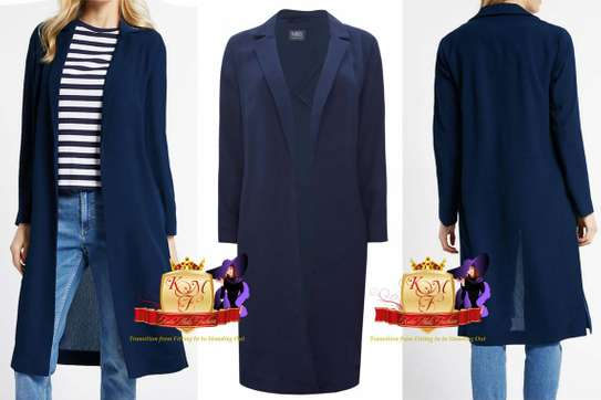 Longline Crepe Duster Jacket by Mark & Spencer