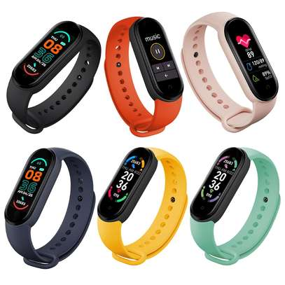 New M6 Smart Watch Fitness Tracker Band Bracelet Waterproof For Mi Trending New Arrivals Wholesale Wristband image 1
