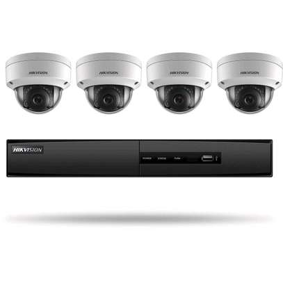 """HIKVision AHD 720P 4 Channel DVR 500GB HDD 4x AHD Cameras Dome Day/night vision All Weather 15"""" TFT Monitor CCTV Kit image 1"""