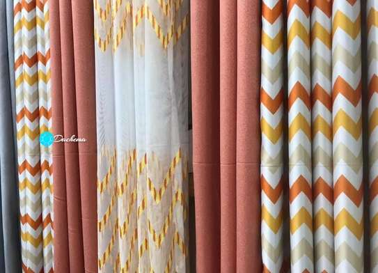 peach double sided curtains image 1