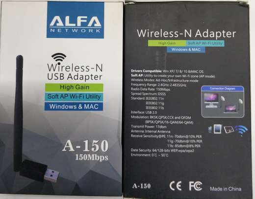 Alfa wireless (wi-fi) N USB Adapter 150mbps