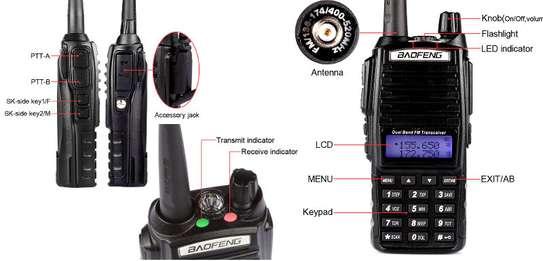 UV-82 VHF UHF FM Transceiver Dual Band Two Way Radio image 1