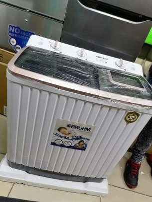 Bruhm 11kg washing machine BWT 110h semi automatic image 1