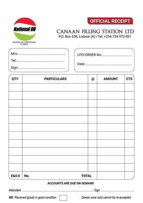 Receipt Book/Delivery Book/Invoice Book/LPO Book Printing