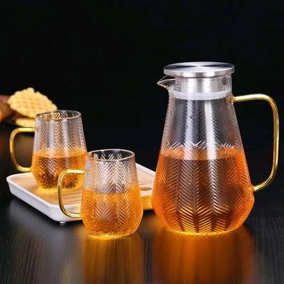 High borosilicate glass jug set image 5