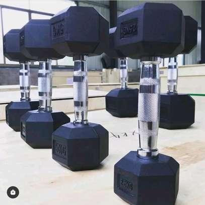 Original gym dumbbell on offer image 1
