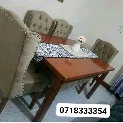 Stylish Contemporary Quality 6 Seater(4 Seater+Bench) Dining Table image 1