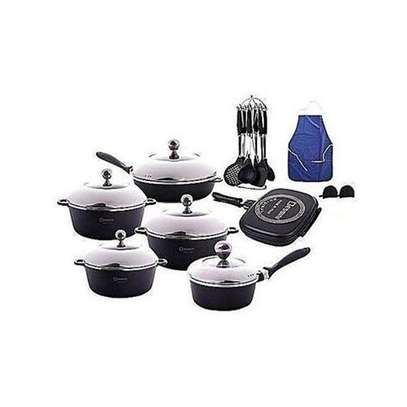 Dessini Non-Stick Cooking Pots - 23 Pieces - Black image 1