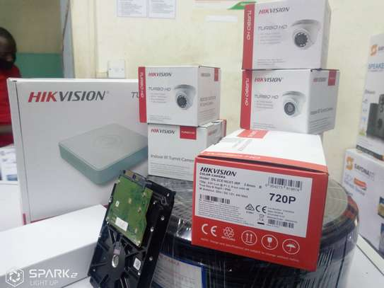 Hikvision 4 CCTV CAMERA FULL PACKAGE 1.3 MP With Night Vision image 3