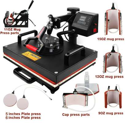 Commercial Heat Transfer Machine, Hot Pressing Vinyl Digital Sublimation for T-Shirt, Mouse Pad, Phone Case, Cotton, Bags image 1