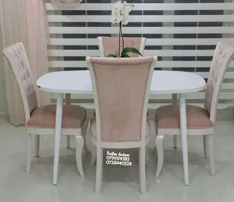 Four dining chairs/dining set/four seater dining set image 1