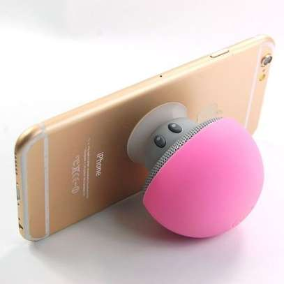 Mushroom Shape Bluetooth Speaker, with Suction Holder(Pink). image 1