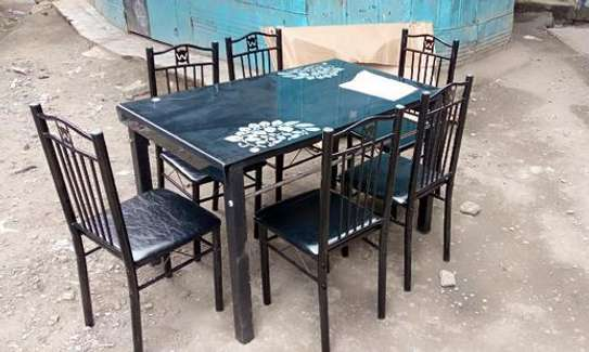 Easy to wipe clean dining table and chairs image 1