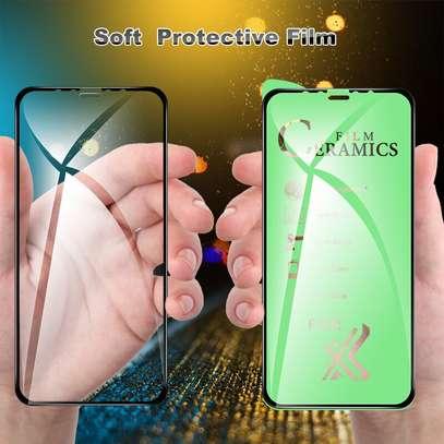 Ceramic 5D Full Glue Glass Protector Flexible Anti-Break,Anti-Fingerprint for iPhone X  XS image 2