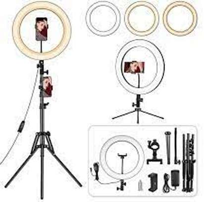 """14 inch Ring Light with Stand and Phone Holder, Desk Ringlight, 69"""" Heighten Tripod LED Circle Light for iPhone Tiktok YouTube Video Recording, Live Streaming, Selfie Photo, Makeup, Zoom Meetings image 1"""