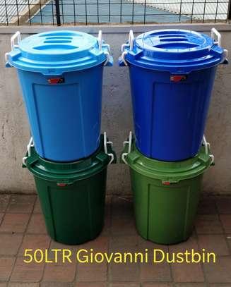 50ltrs plastic Giovanni dustpin image 1