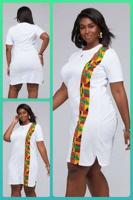 extended -Tee  African print  customised outfit image 3