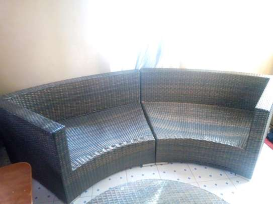 Wooven sofa and Table