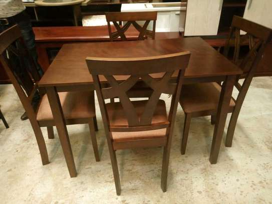 4 seater wooden dining table image 1