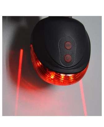 Bicycle Computer Speedometer, LED Headlight, LED Rear Laser Line Blinker Combo image 2