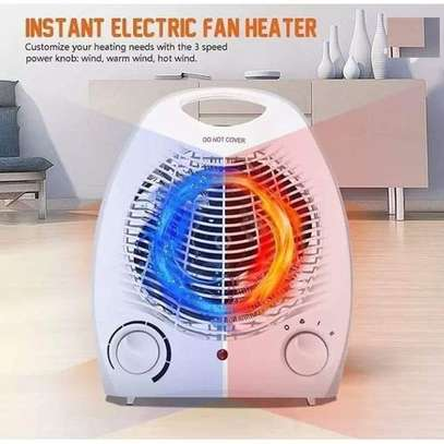Nunix Portable Heat Glow Electric Room Heater And Cooling Fan image 1