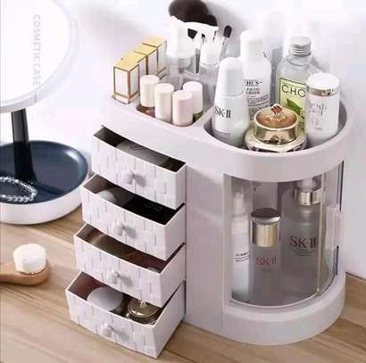 Dustproof Cosmetic organiser/make up organiser/jewellery organiser/storage desk organiser      image 1